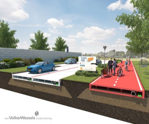 Recycled Plastic Road